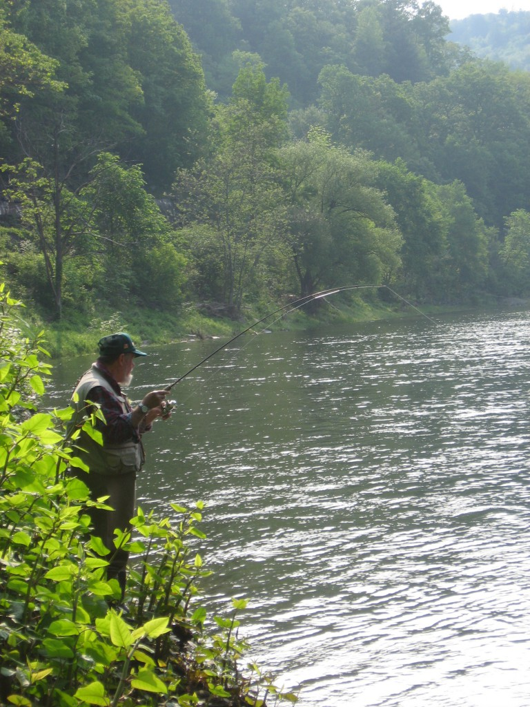 Fishing for Shad on Delaware River